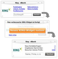 xing, widget, allyve