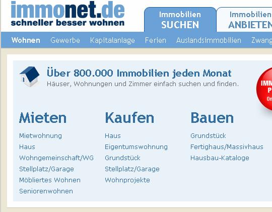 Immonet.de Startseite